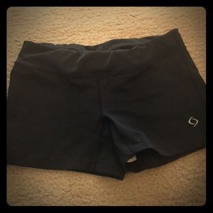 Moving Comfort athletic shorts.